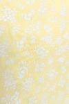 Geltona vasarinė pastelinė suknelė medžiaga