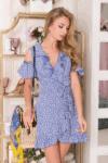 Mėlyna vasarinė pastelinė suknelė