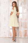 Geltona vasarinė pastelinė suknelė