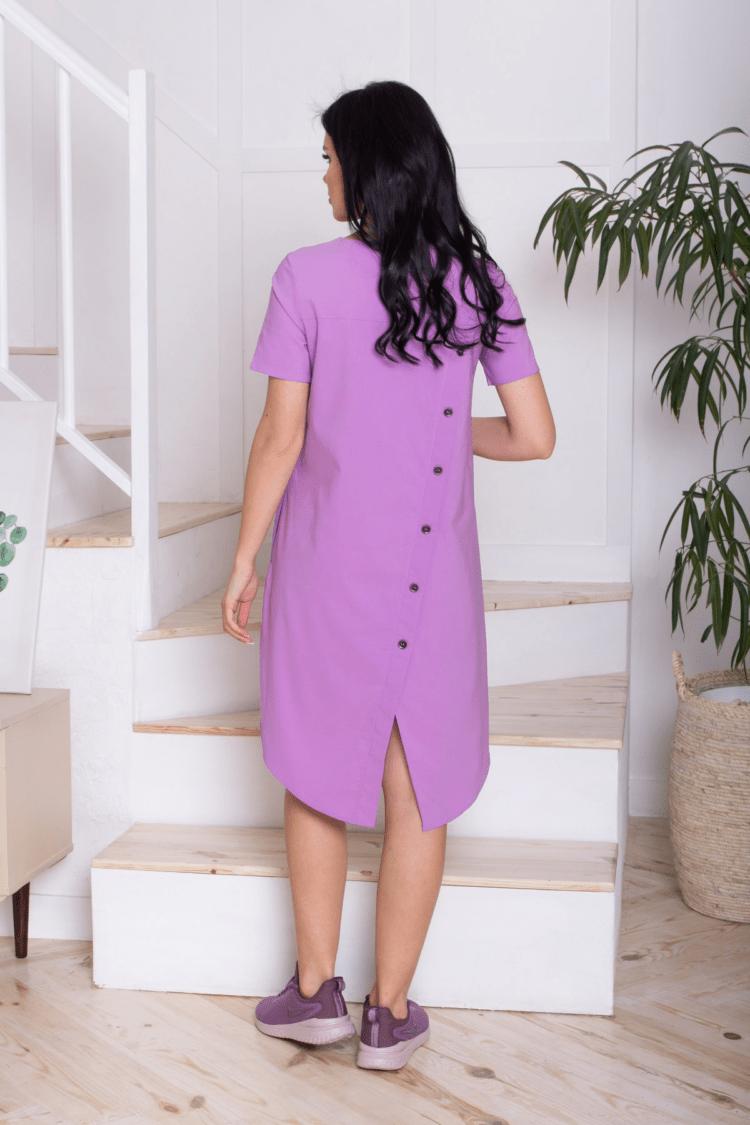 Rožinė spalvos ryški laisva patogi suknelė