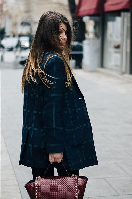 Stilingas oversize languotas švarkas moterims miesto stilius ruduo